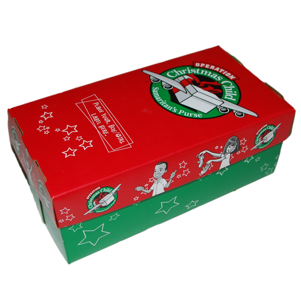 Christmas Shoebox.Operation Christmas Child Shoe Box Project